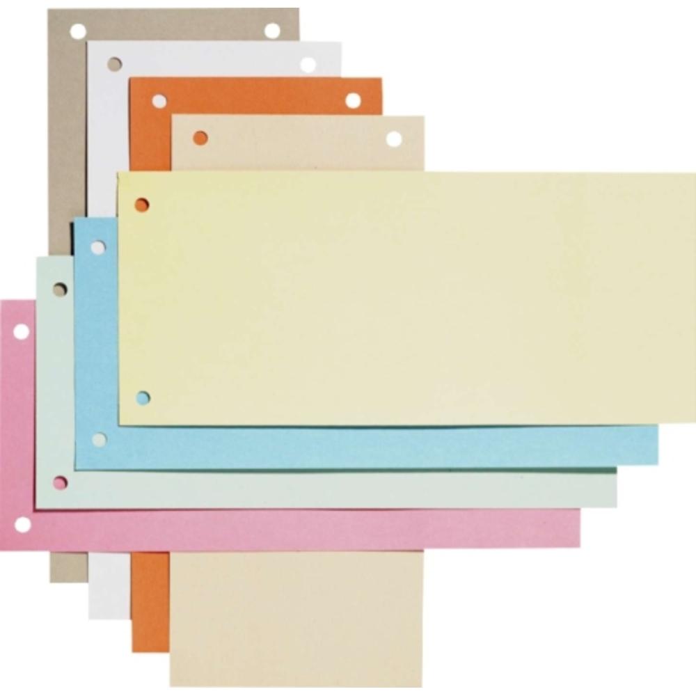 Separatoare carton pentru biblioraft, 190g/mp, 105 x 240 mm, 100/set, ELBA - bleu
