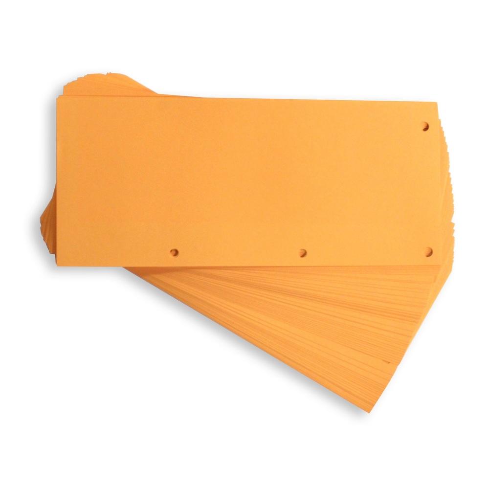 Separatoare carton pentru biblioraft, 190g/mp, 105 x 240 mm, 100/set, Elba - orange