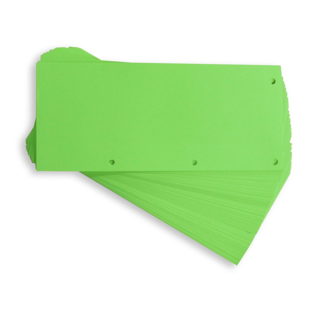 Separatoare carton pentru biblioraft, 190g/mp, 105 x 240 mm, 100/set, ELBA - verde