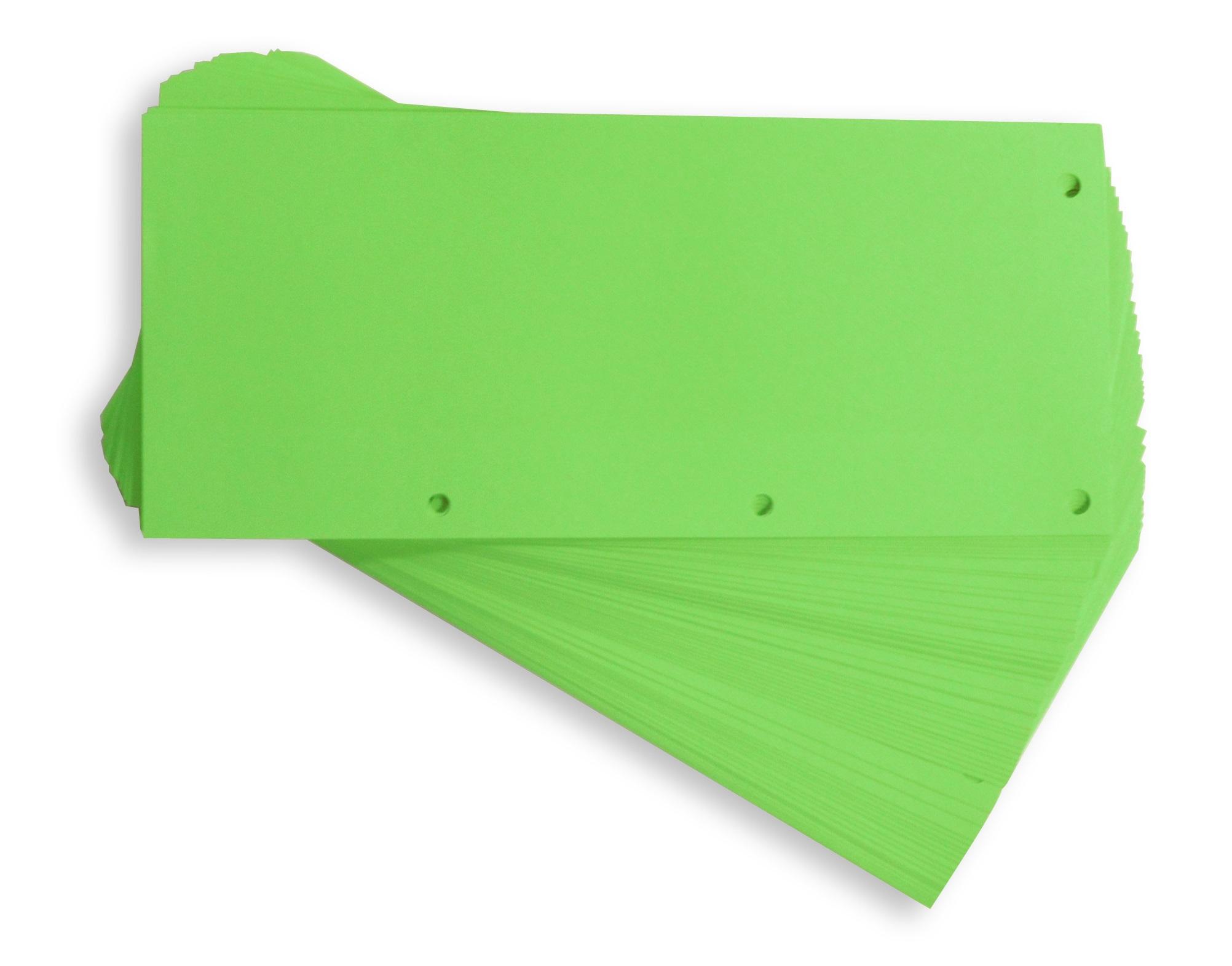 Separatoare carton pentru biblioraft, 190g/mp, 105 x 240 mm, 60/set, ELBA Duo - verde