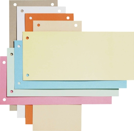 Separatoare carton pentru biblioraft, 190g/mp, 105 x 240 mm, 100/set, ELBA - chamois