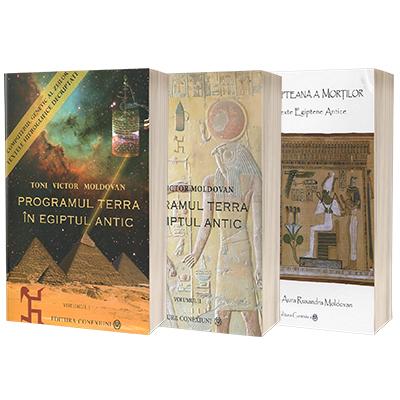 Seria completa Toni Victor Moldovan. Programul Terra (Vol 1 si 2) si Cartea egipteana a mortilor (set de 3 carti)