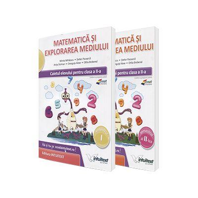 Set 2 caiete - Matematica si explorarea mediului, pentru clasa a II-a. Caietul elevului pentru semestrele I si II