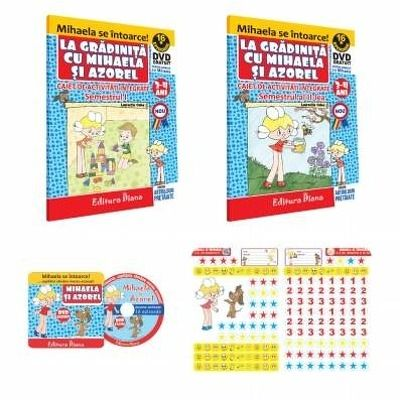 Set Activitati Integrate Mihaela si Azorel Semestrul I si Semestrul II, 3 - 4 ani