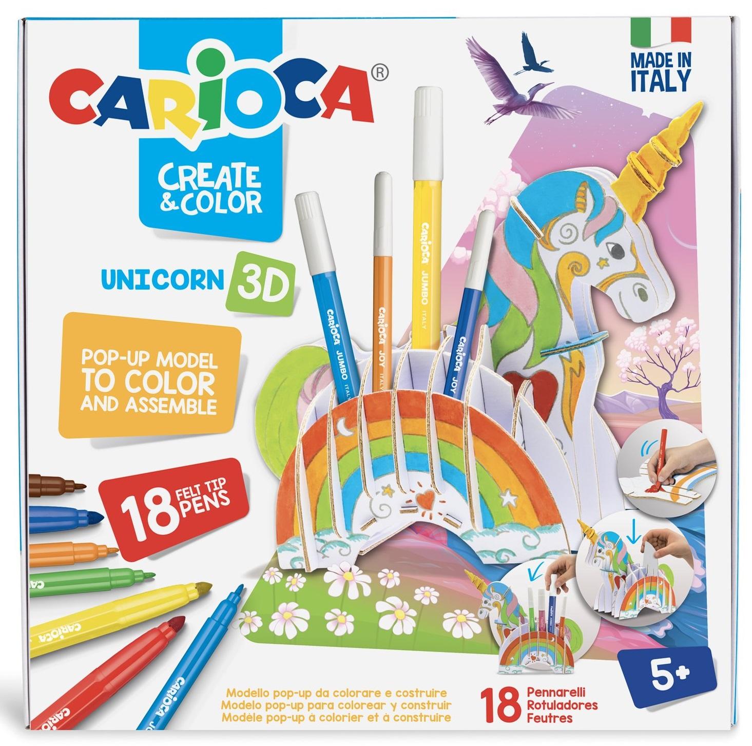 Set articole creative Unicorn 3D, Carioca