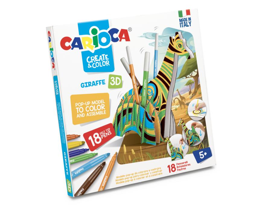 Set articole creative model Giraffe 3D, Carioca