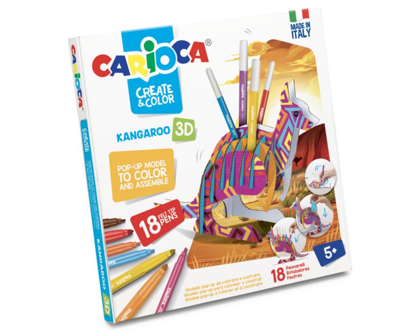 Set articole creative model Kangaroo 3D, Carioca