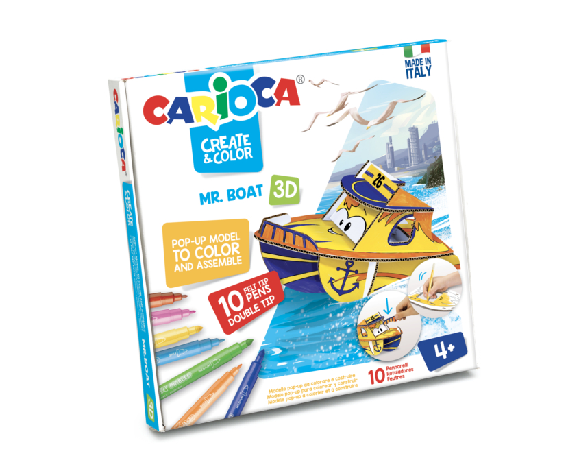 Set articole creative model Mr. Boat 3D, Carioca