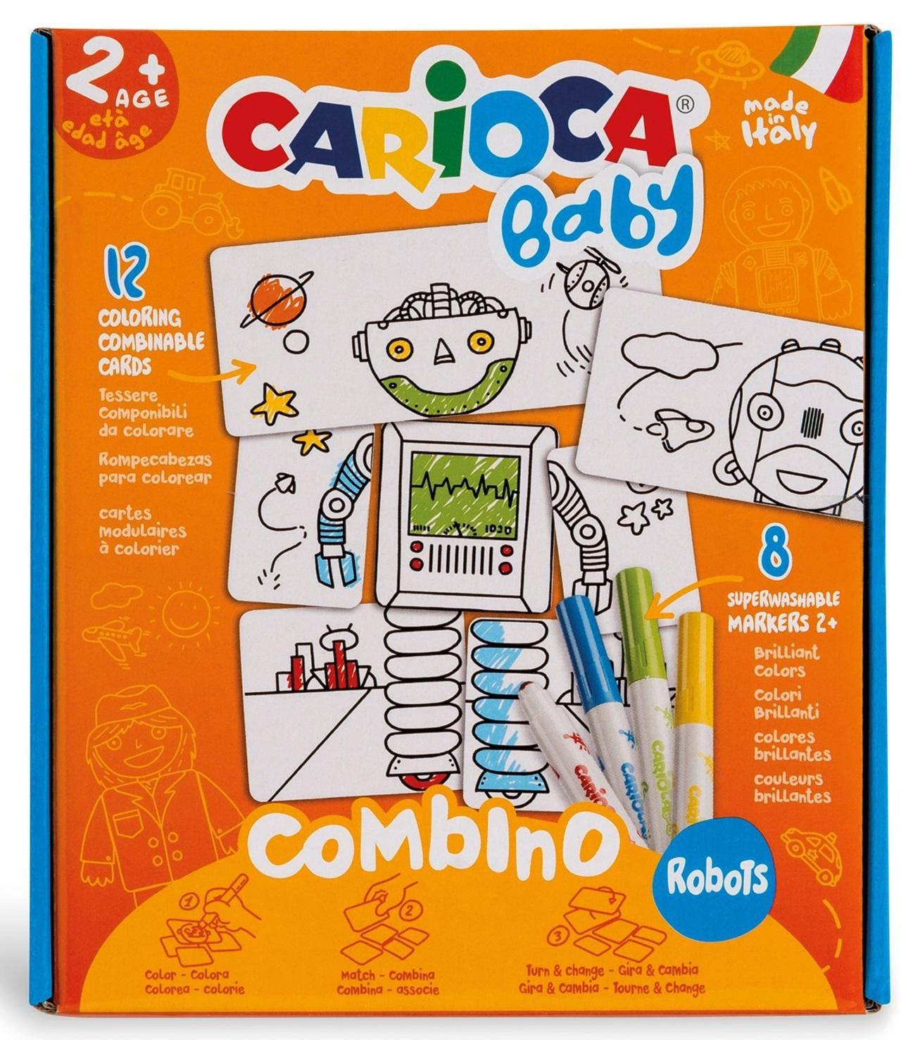 Set articole creative model robot, Carioca Baby