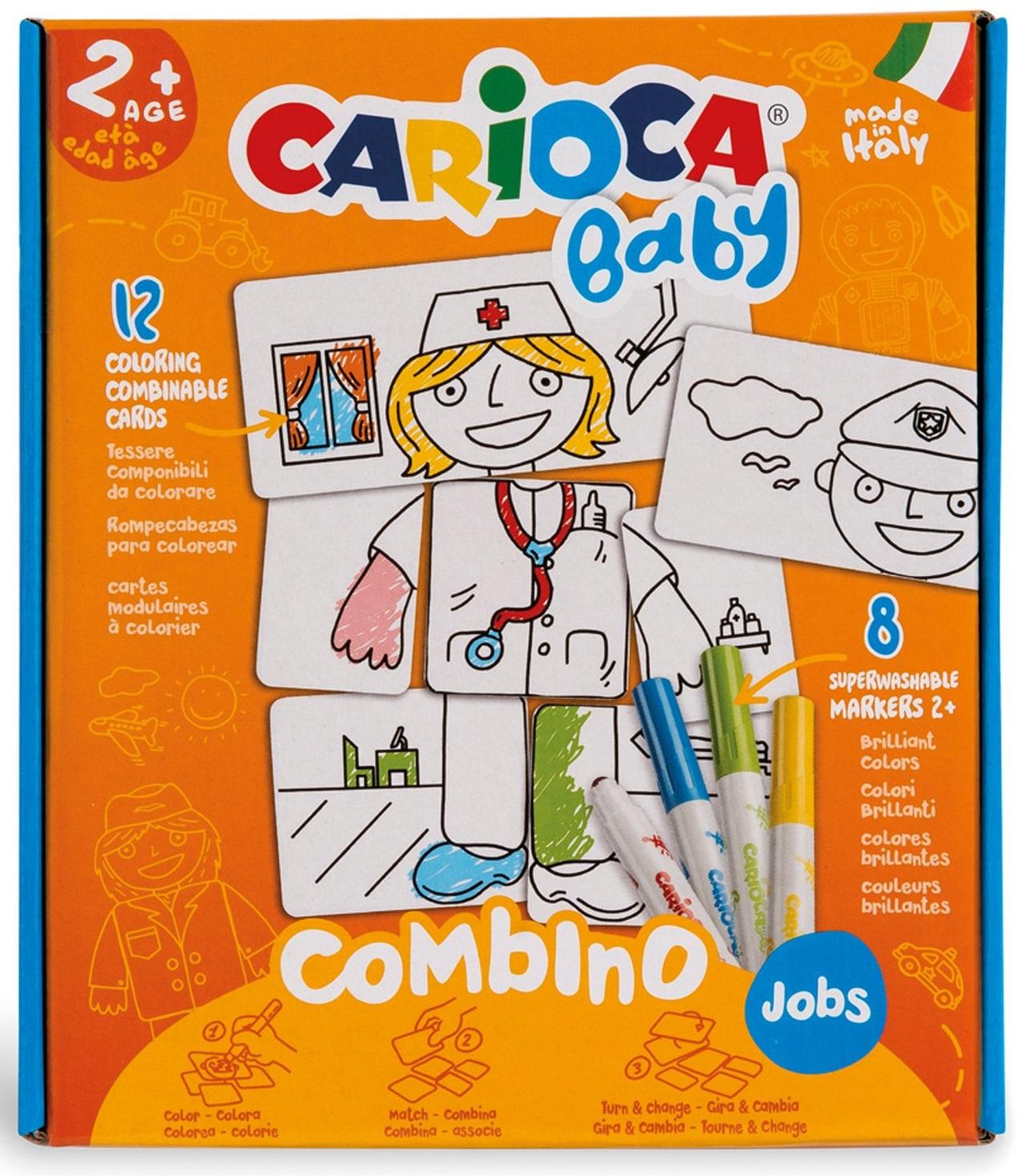 Set articole creative puzzle model Job 2, Carioca Baby