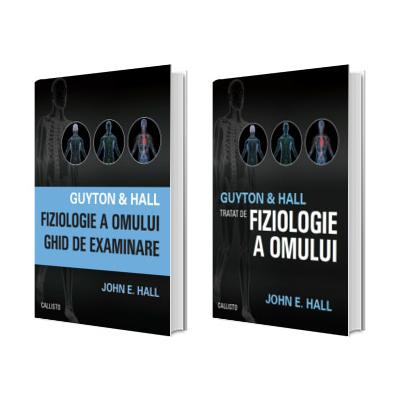 Set de 2 carti Guyton and Hall. Tratat de fiziologie a omului si Fiziologie ghid de examinare