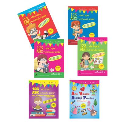 Set de 6 caiete pentru gradinita. 123... Start spre ABC-ul micului scolar