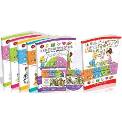 Set Educativ - O calatorie distractiva prin clasa pregatitoare. Pachet educational (6 volume si CD cu activitati multimedia)