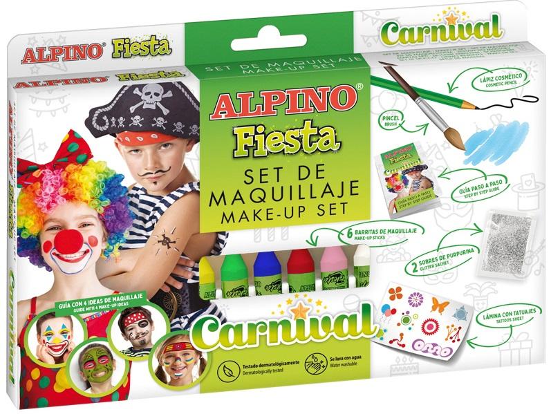 Set machiaj ALPINO Carnival - 6 culori x 5 gr   accesorii