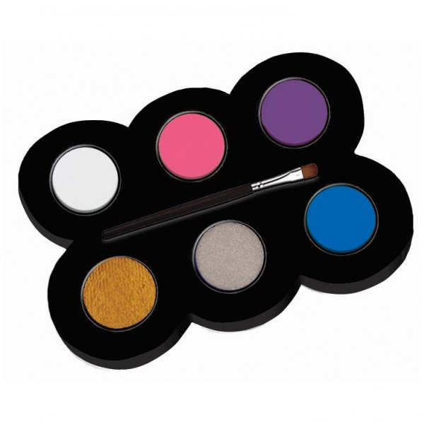 Set machiaj ALPINO Make-up pallete Princess - 6 culori   pensula