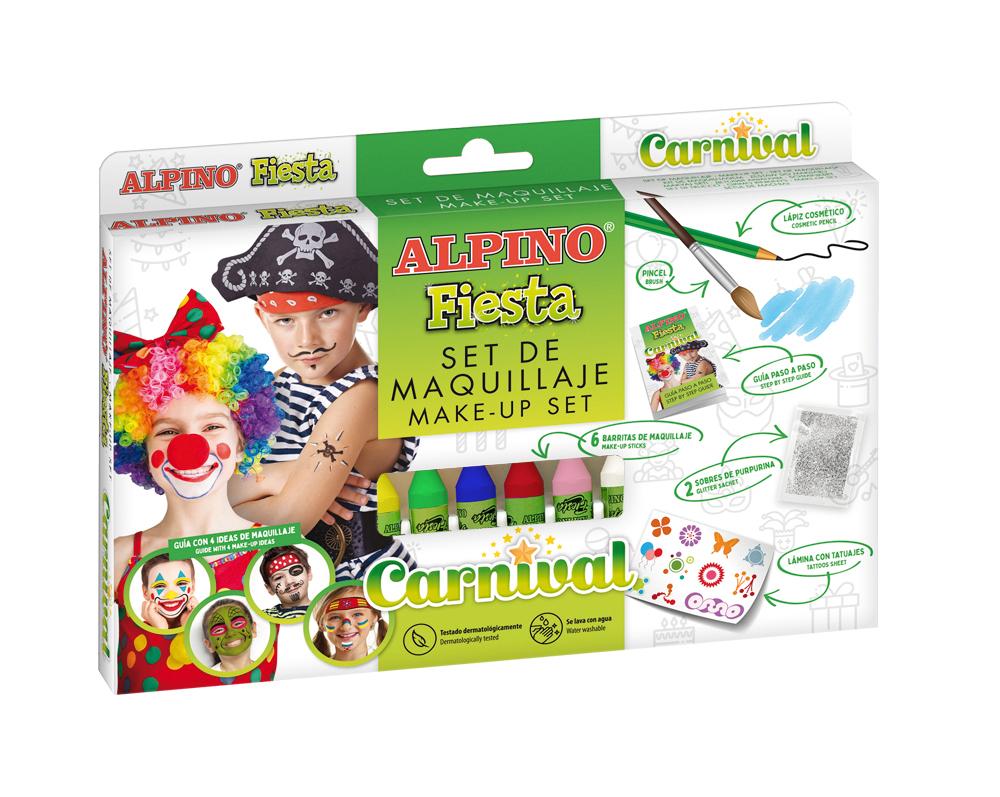 Set machiaj ALPINO Super Hero - 6 culori x 5 gr   accesorii
