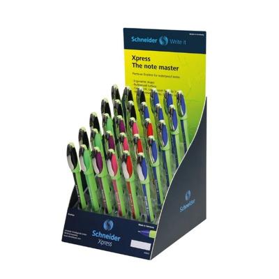 SIS Display Schneider Xpress, 30 linere-(9x albastru,negru, 3x rosu,verde,violet,roz)