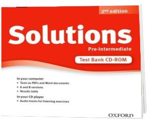 Solutions. Pre-Intermediate. Test Bank CD-ROM