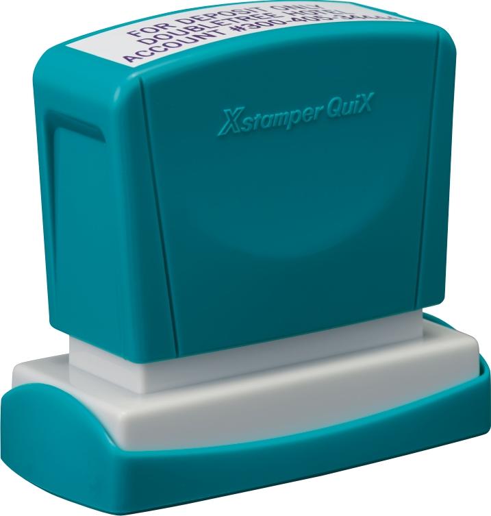 Stampila Xstamper QuiX - Q11, dreptunghiulara, 16 x 48mm - tus albastru