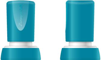 Stampila Xstamper QuiX - Q38, rotunda, D-24mm - tus albastru