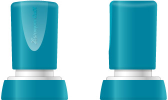 Stampila Xstamper QuiX - Q38, rotunda, D-24mm - tus rosu