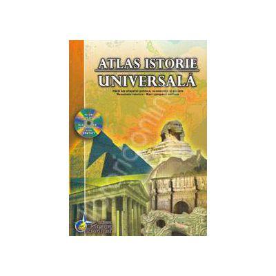 Atlas istorie universala. Contine CD  (Editie Cartonata)