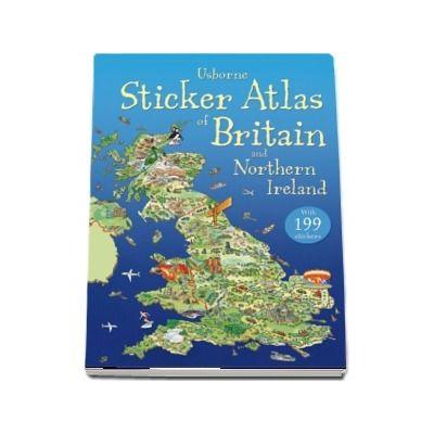 Sticker atlas of Britain and Northern Ireland