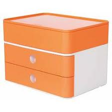 Suport cu 2 sertare, cutie ustensile, orange piersica, Han