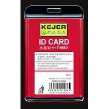 Suport PP-PVC rigid, pentru ID carduri, 91 x128mm, vertical, KEJEA -rosu