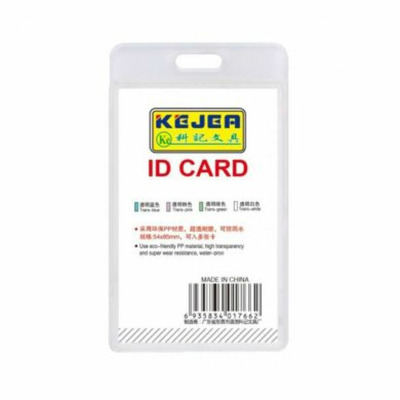 Suport PP water proof, pentru carduri, 54X85 mm, vertical, KEJEA -transparent