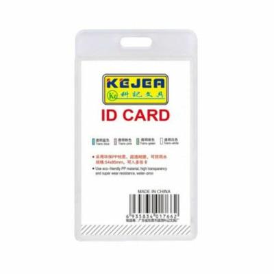 Suport PP water proof, pentru carduri, 74X105 mm, vertical, KEJEA -transparent