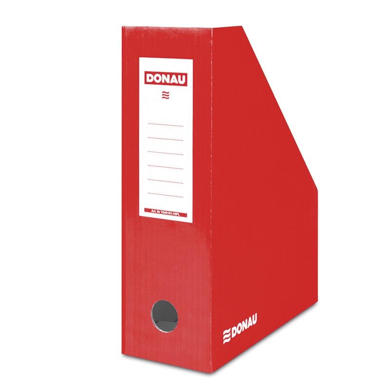Suport vertical pentru cataloage, A4 - 10cm latime, din carton laminat, rosu, Donau