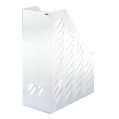 Suport vertical plastic pentru cataloage, XXL - transparent mat, Han Brillant