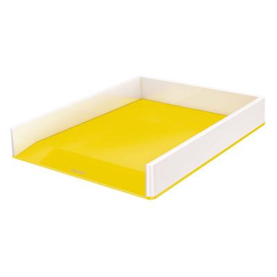 Tavita documente Leitz WOW, PS, A4, culori duale, alb-galben