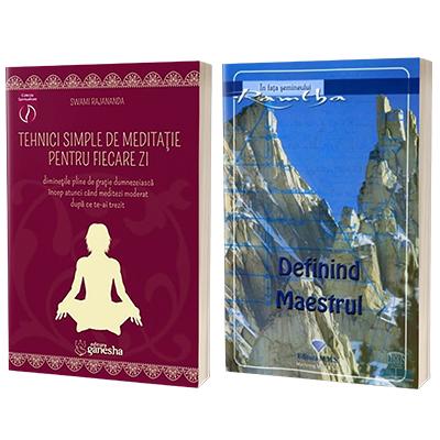 Set 2 carti - Definind Maestrul si Tehnici simple de meditatie pentru fiecare zi