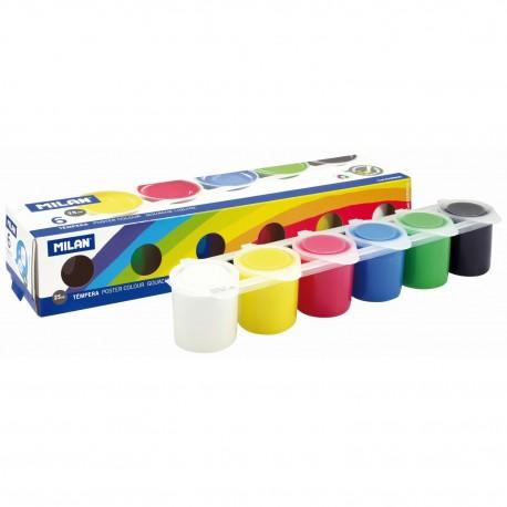 Tempera 6 culori 25 ml/culoare MILAN