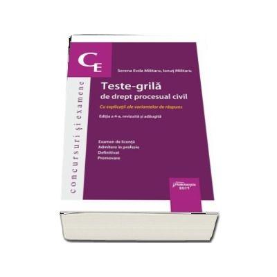 Teste-grila de drept procesual civil. Editia a 4-a