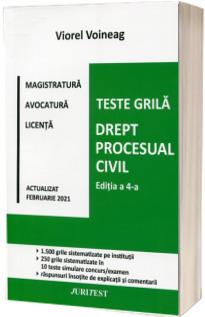 Teste grila. Drept procesual civil. Editia a IV-a 2021