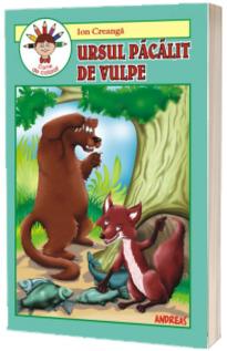 Ursul pacalit de vulpe, carte de colorat - Adaptare text Laura Ivona Dumitru