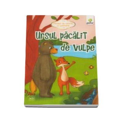 Ursul pacalit de vulpe - Povesti de colorat cu sabloane