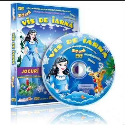 Vis de iarna. Jocuri educationale 3-7 ani, CD 3 (Colectia Eduteca)