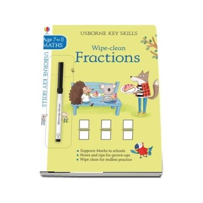 Wipe-clean fractions 7-8