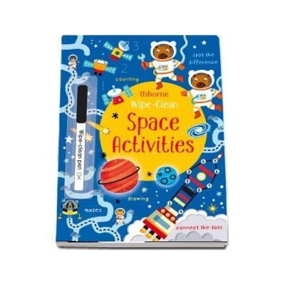 Wipe-clean space activities