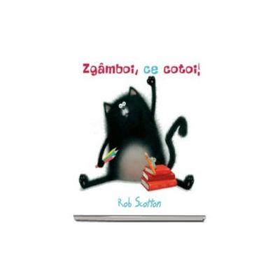 Zgamboi, ce cotoi!  Un soricel infiltrat intr-o Scoala Pisiceasca poate crea o gramada de probleme... (Rob Scotton)